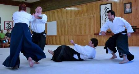 Aikido multiple person randori