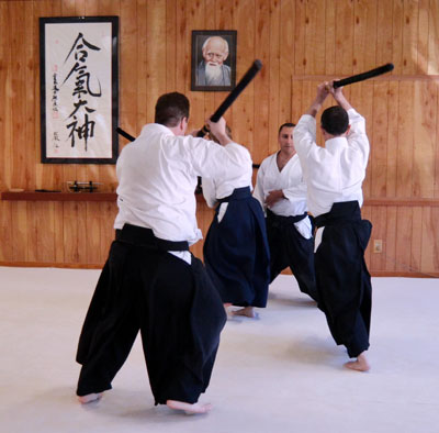 Aikido Multiple Attacker practice with George Ledyard