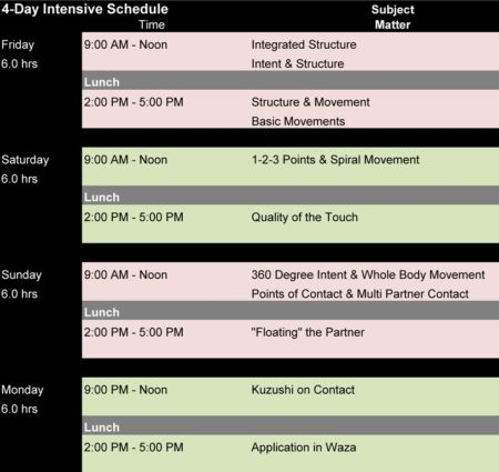 Aikido Intensive - Aikido Seminar Schedule
