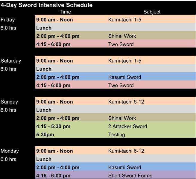 Aikido Sword Intensive Seminar