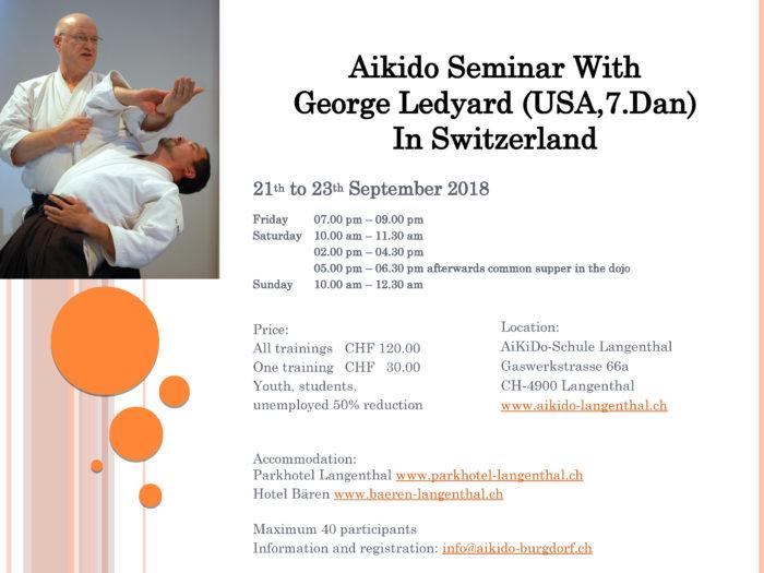 George Ledyard Aikido Seminar in Bern